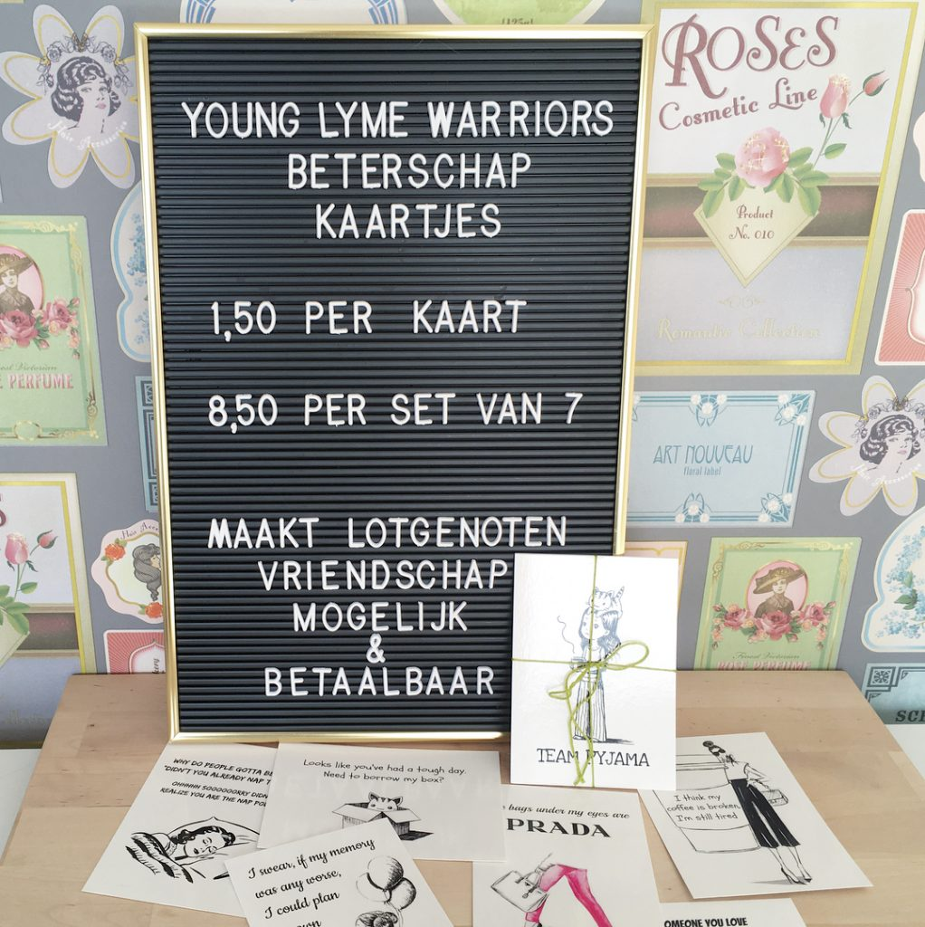 YOUNG LYME WARRIORS BETERSCHAPSKAARTJES 150 per stuk of een sethellip